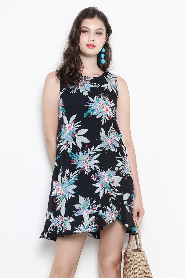 Carlie Dress Black Floral