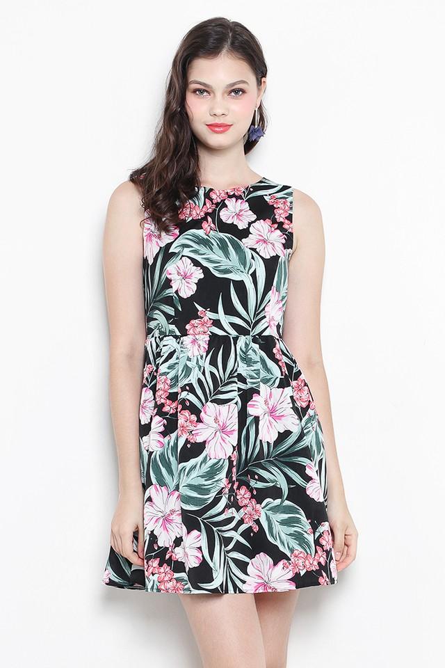 Perrie Dress Black Floral