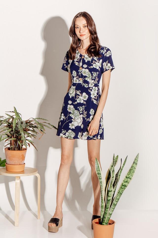 Zadie Dress Navy Floral