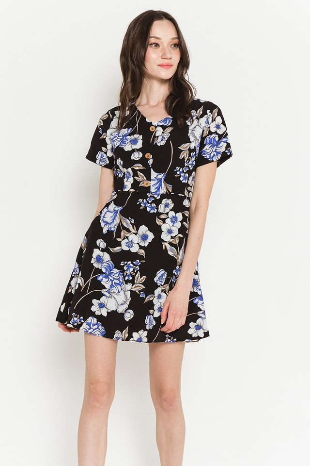 Zadie Dress Black Floral