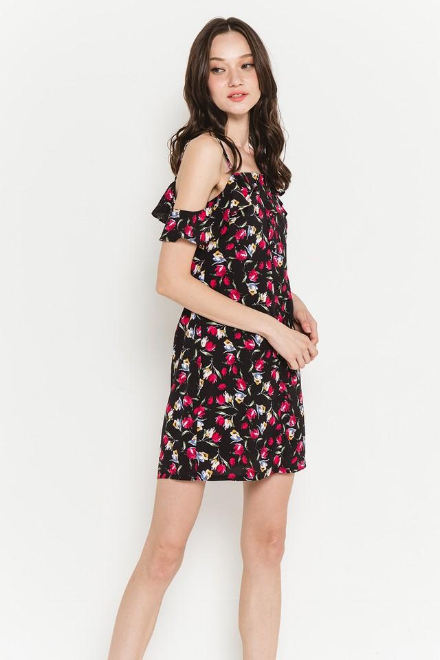 Ainsley Dress Black Floral