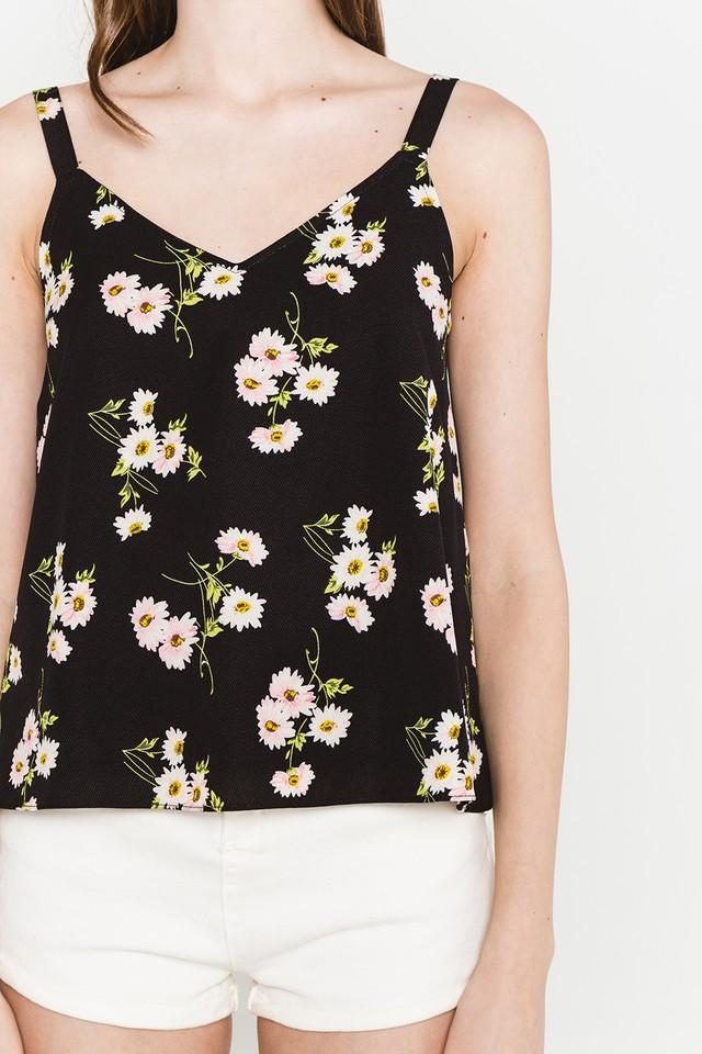 Jenni Top Black Floral