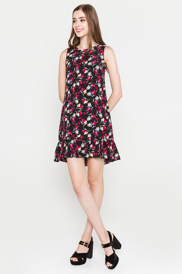 Dianne Dress Black Floral