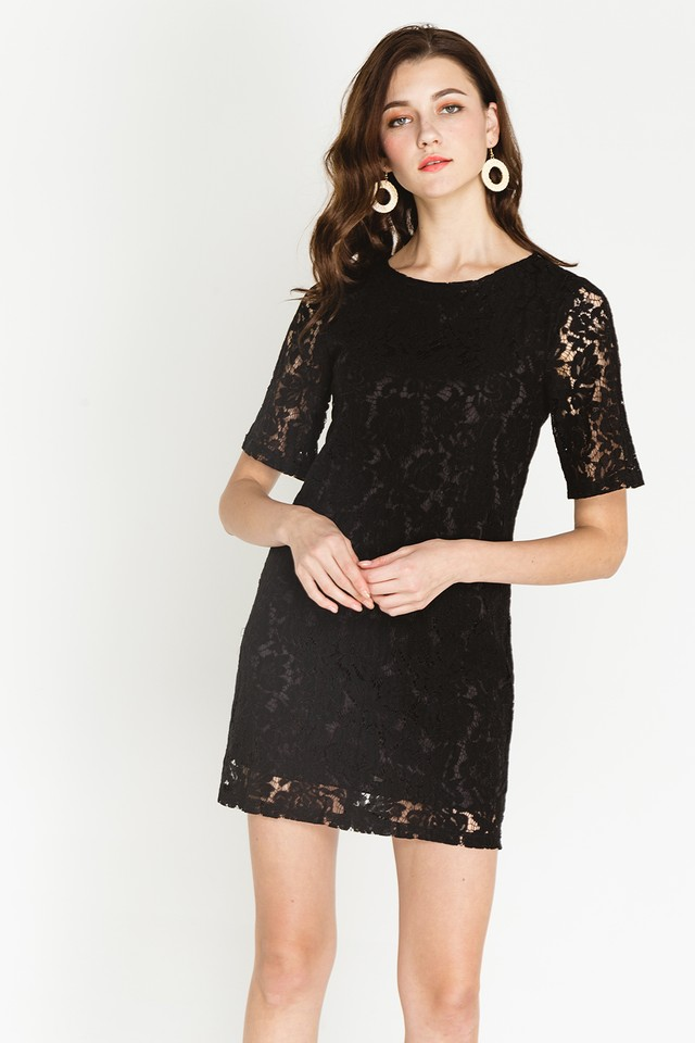 Trina Lace Dress Black