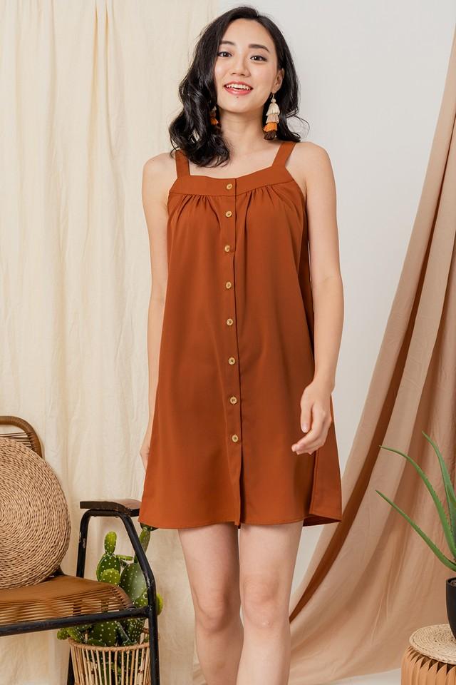 Tamera Dress Burnt Orange