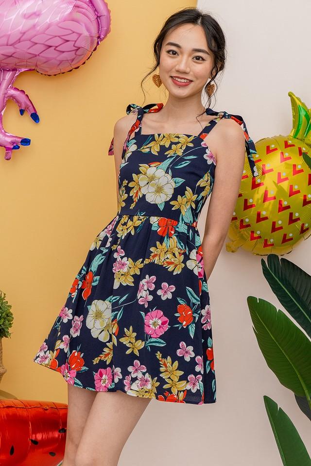 Janae Dress Navy Floral