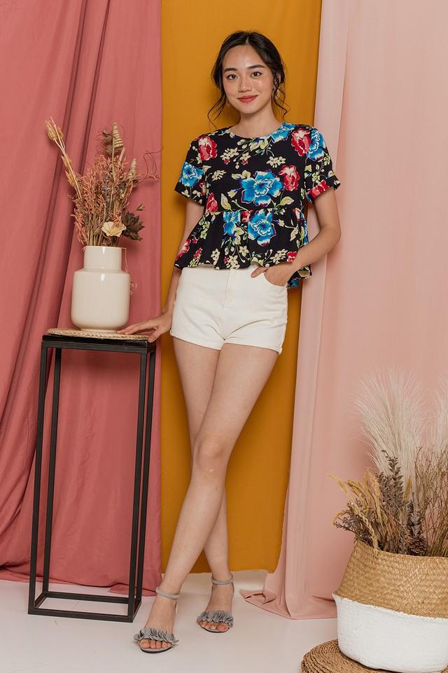 Glenda Top Black Floral
