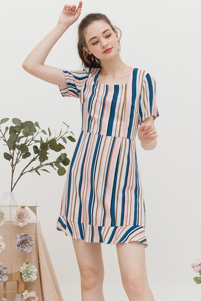 Jarina Dress Pink/Blue Stripes