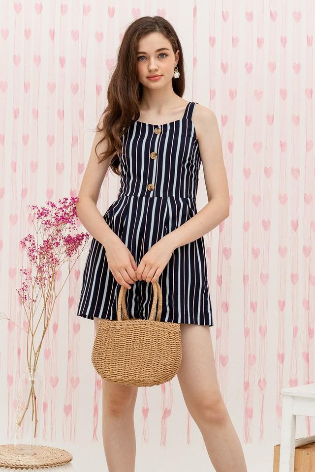 Elina Playsuit Navy Stripes