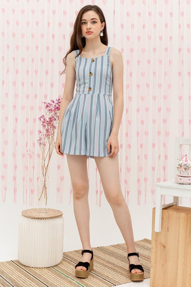Elina Playsuit Blue Stripes