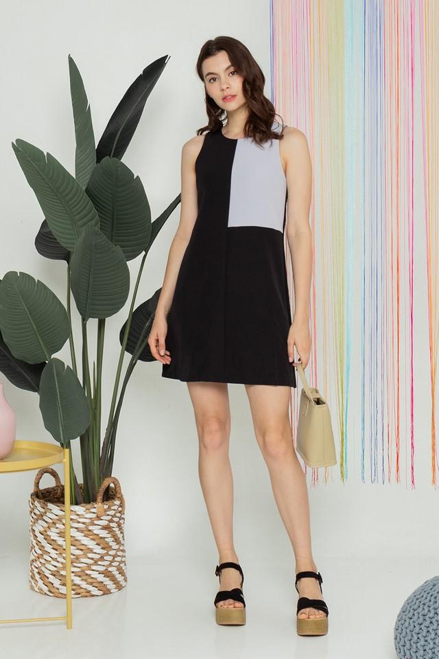 Kimberley Colourblock Dress Black