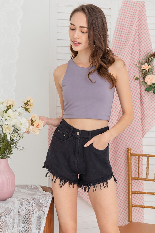 Shelly Denim Shorts Black