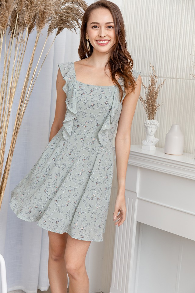 Carlisle Dress Sage Floral