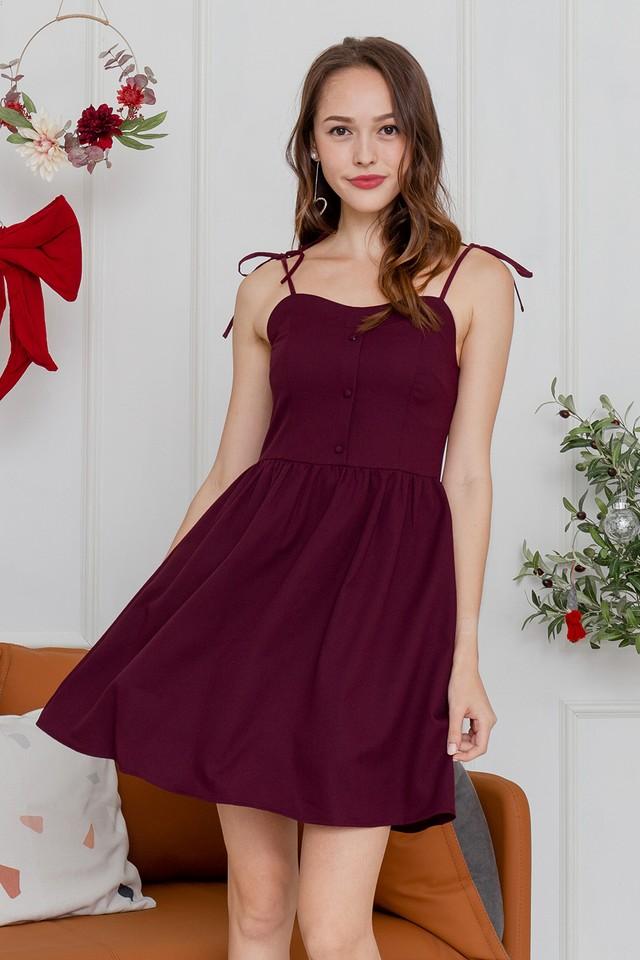 Candice Dress Maroon