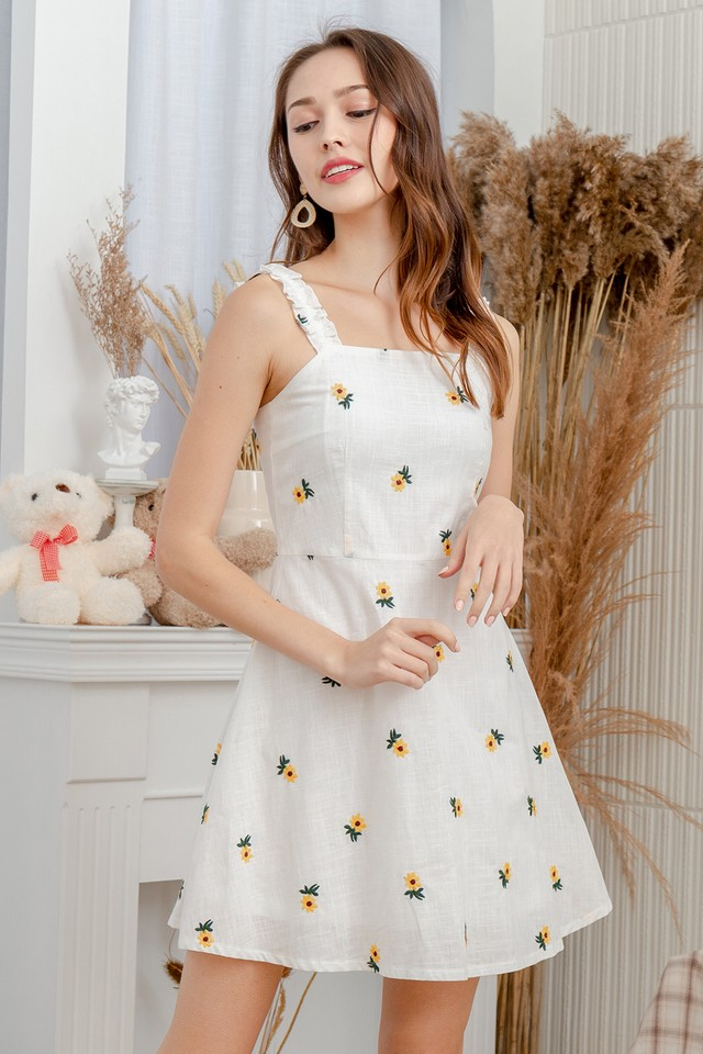 Audwin Dress Yellow Sunflower