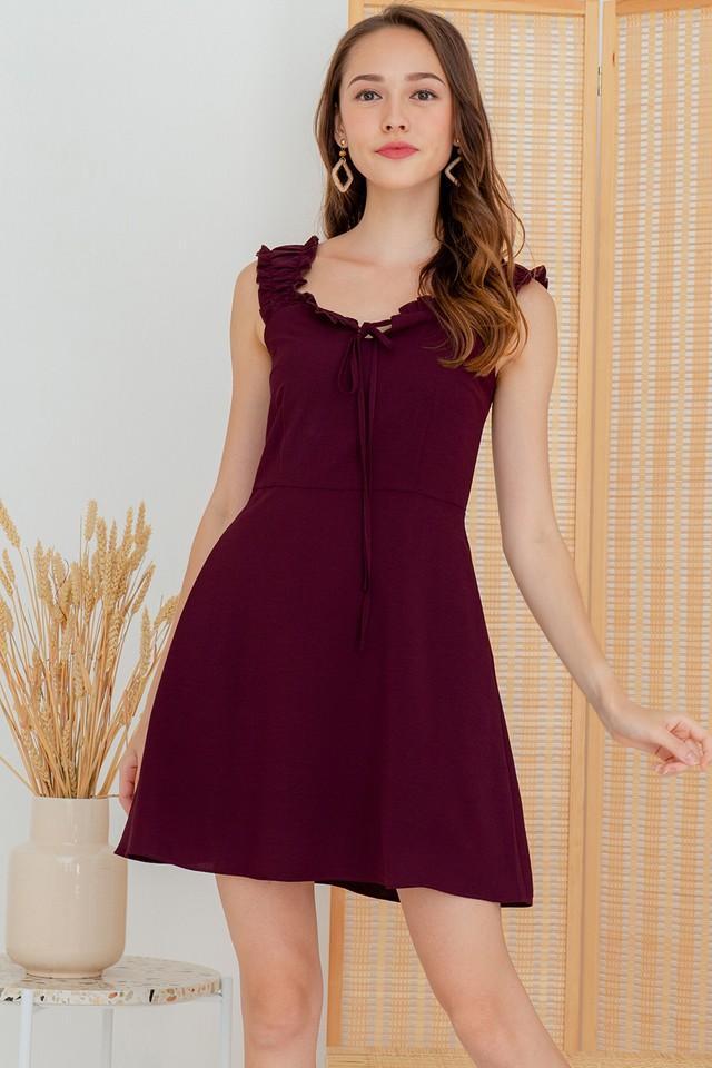 Avena Dress Burgundy