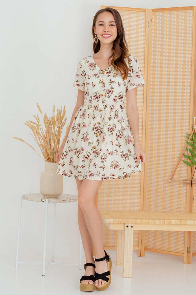 Ruth Dress White Floral