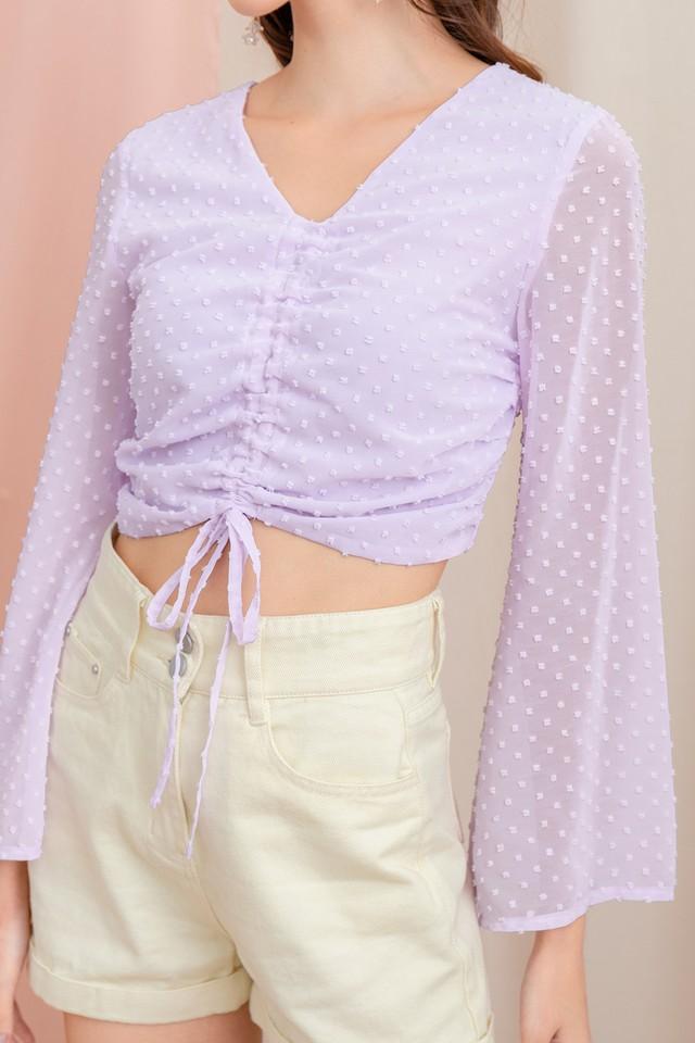 Cullen Swiss Dots Top Lilac
