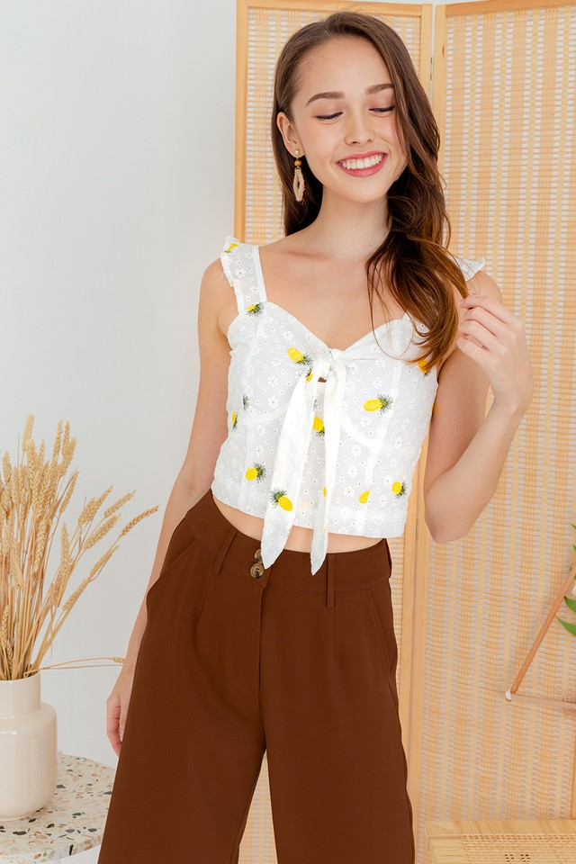 Helen Embroidery Top Pineapple