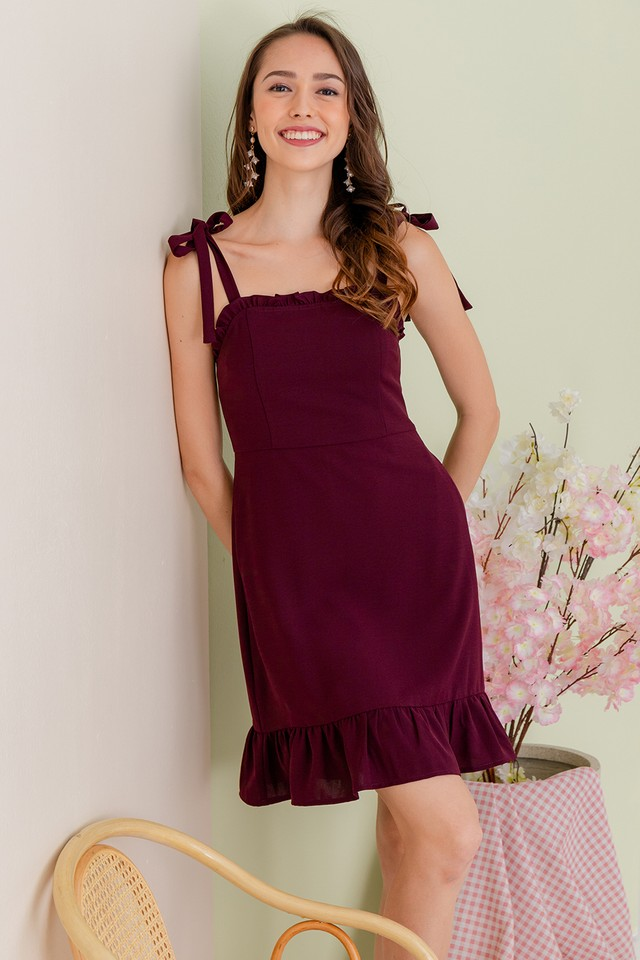 Paxton Dress Burgundy