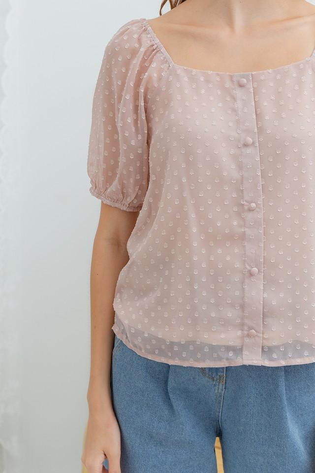Jerro Swiss Dots Top Pink