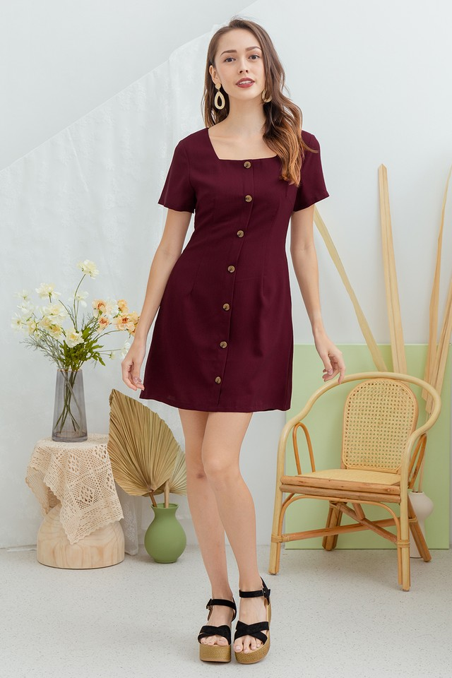 Reggie Dress Maroon