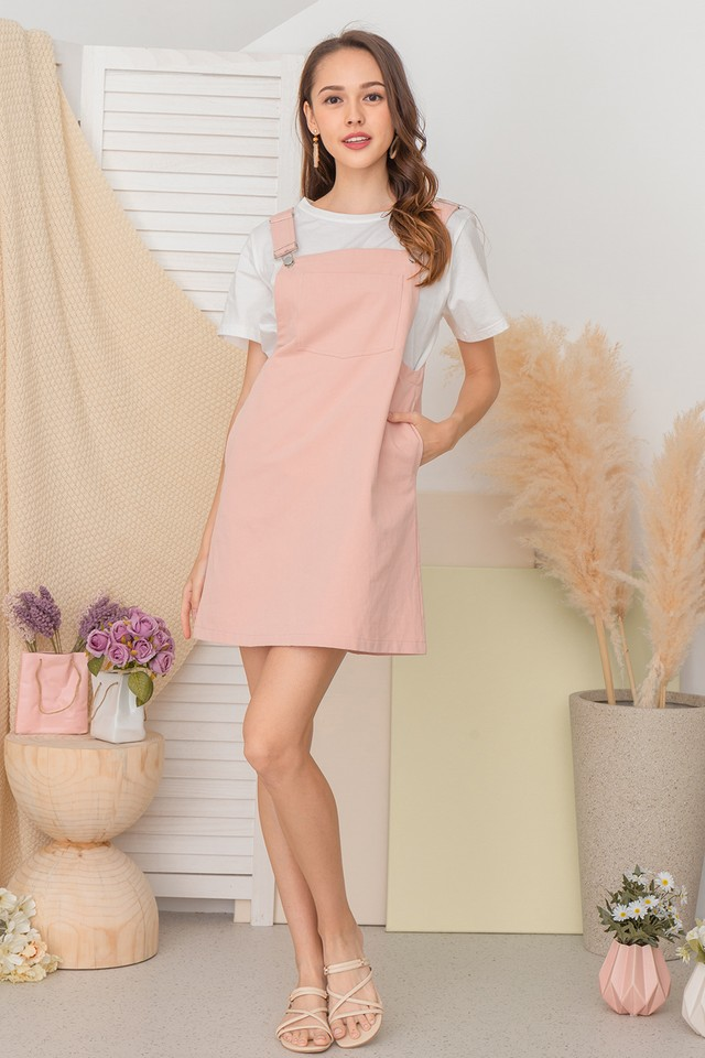 Rocio Pinafore Pink