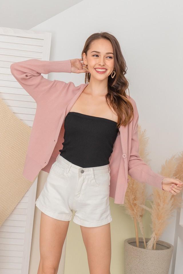 Levina Knit Cardi Dusty Pink
