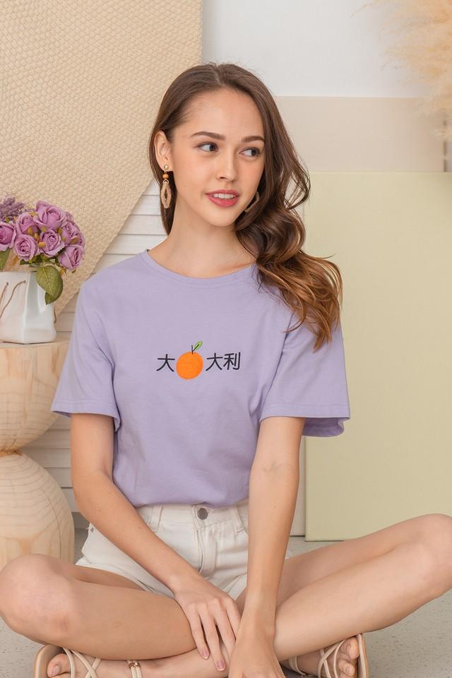 Auspicious Mandarin Tee Lilac