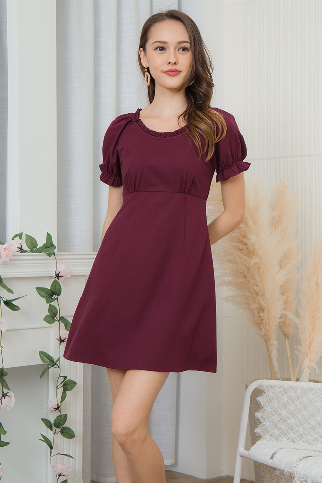 Scottia Dress Burgundy