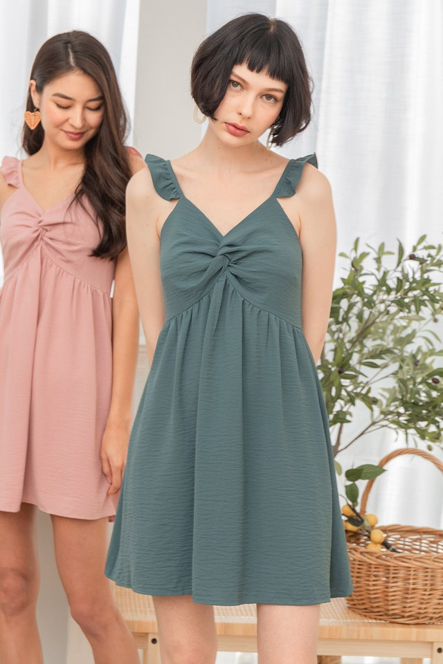 Holden Dress Bluish Green