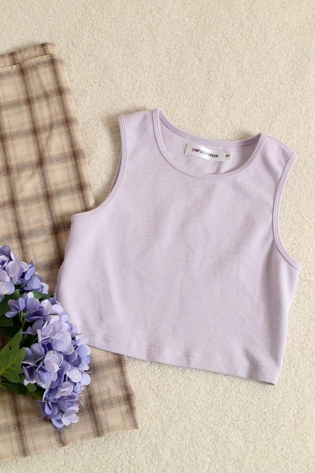 Pollie Rib Top Lilac