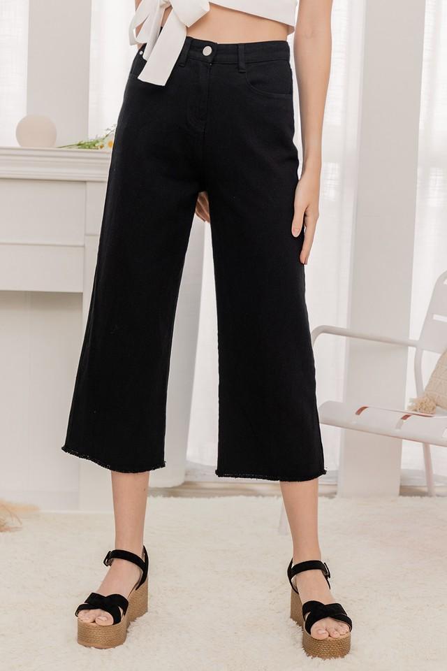 Liza Denim Pants Black