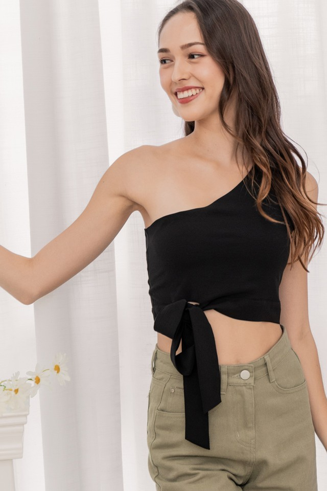 Nerisa Toga Top Black