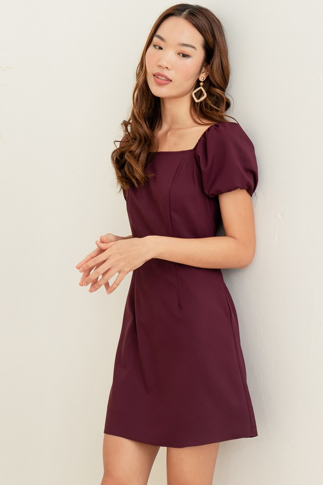 Maurice Dress Maroon
