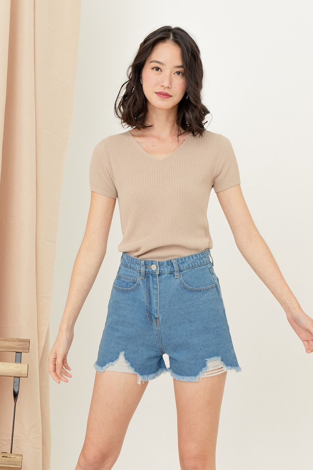 Curtis Knit Top Sand