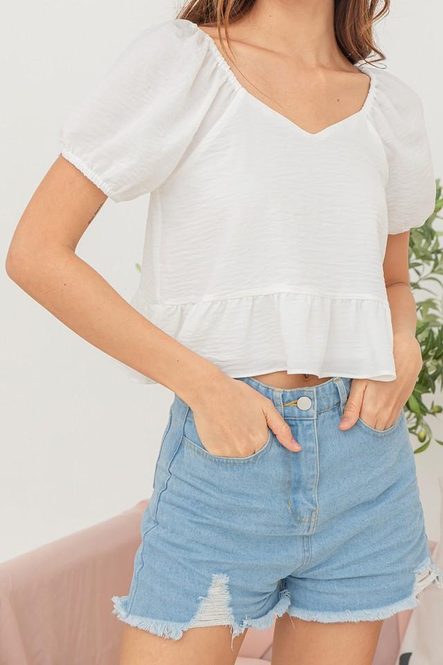 Evelee Denim Shorts Light Wash
