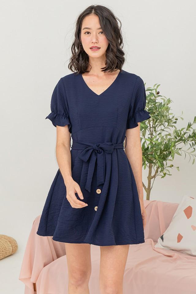 Lynna Dress Navy