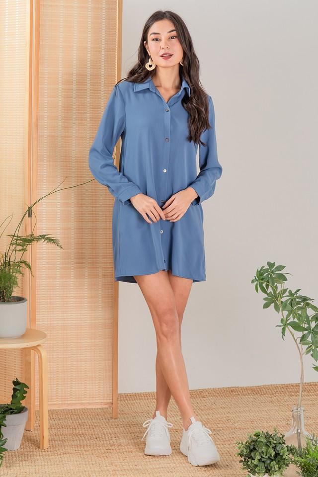 Herran Shirtdress Slate Blue