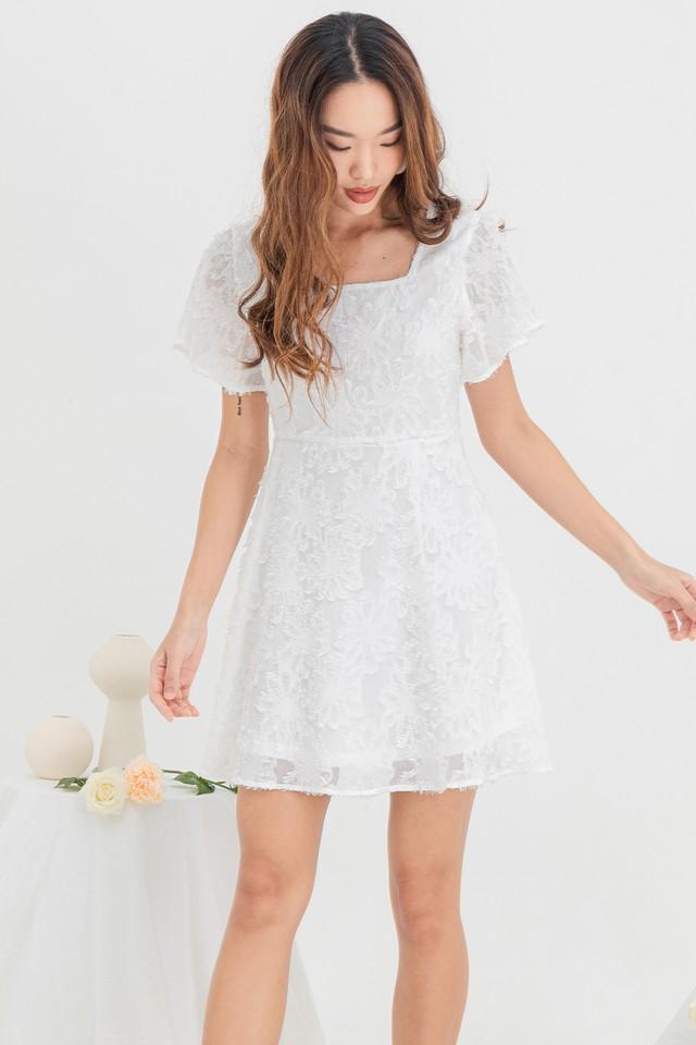Sienna Furry Dress White