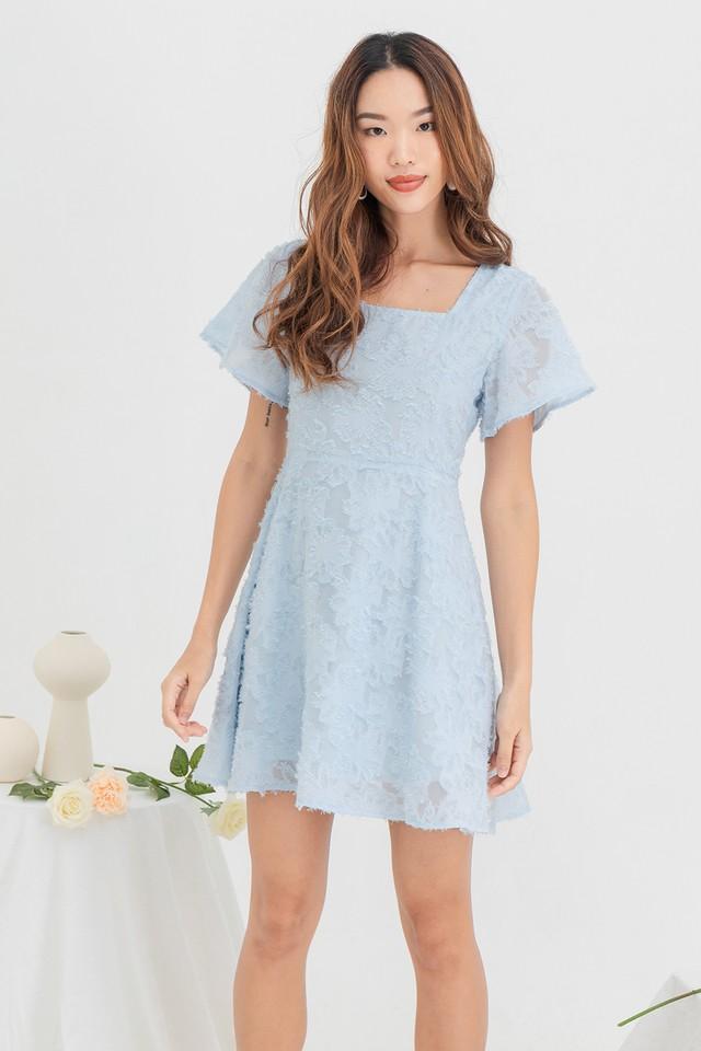 Sienna Furry Dress Pastel Blue