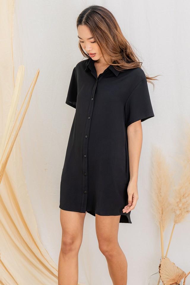 Miyoko Shirtdress Black