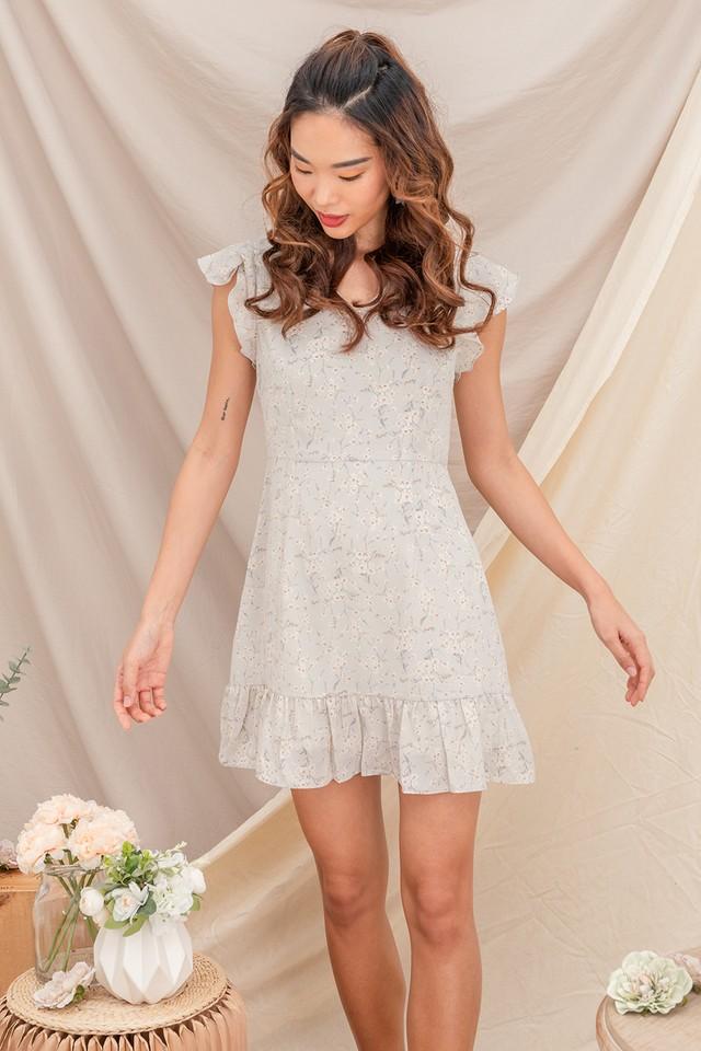 Janessa Dress Grey Floral