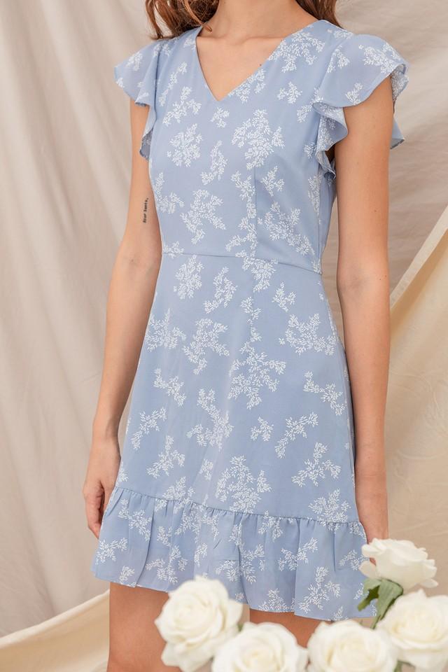 Janessa Dress Blue Confetti