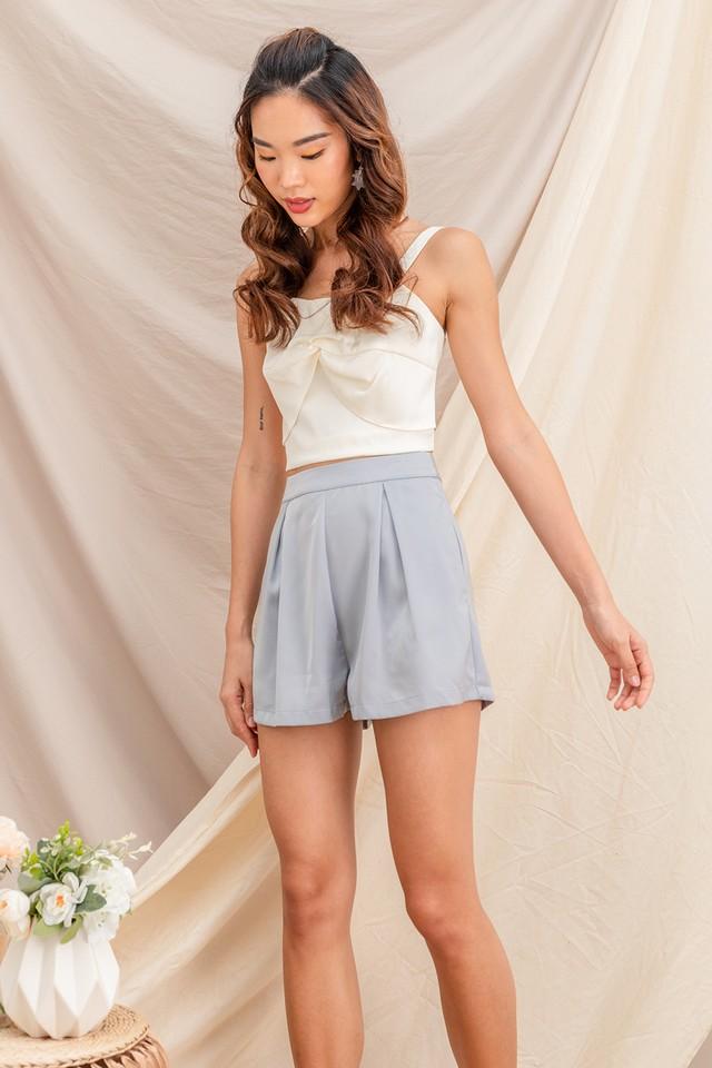 Tamika Satin Shorts Grey