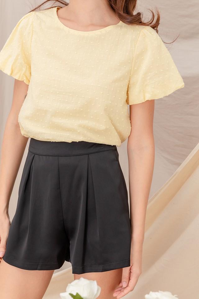 Tamika Satin Shorts Black