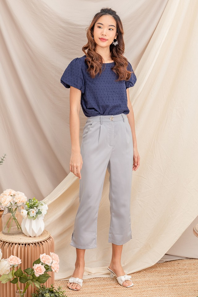 Terrie Satin Culottes Grey