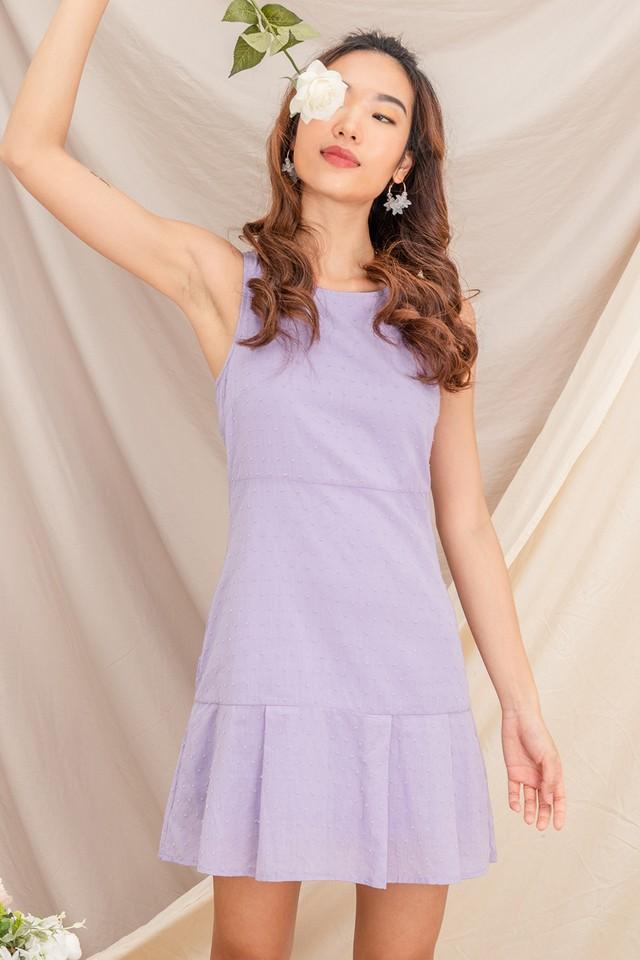 Bevis Swiss Dot Dress Taro