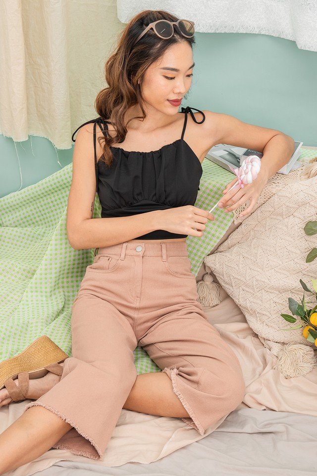 Liza Denim Pants Brick
