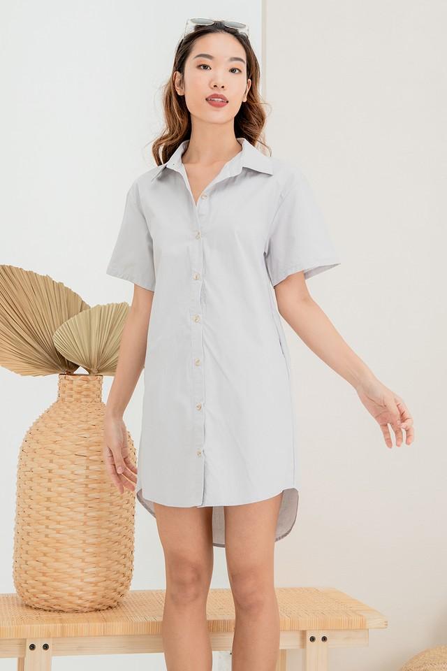 Nicolette Shirtdress Grey